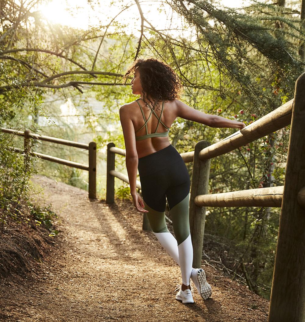 легинсы зеленые для фитнеса